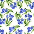 Stock Photo: Forget-me-not Flowers Seamless Pattern