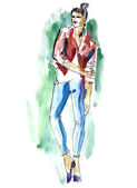 Fashion Illustration — Foto Stock