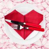 Heart Shape Napkin — Stock Photo