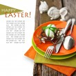 Easter Place Setting  — Foto de Stock