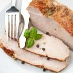 Sliced Roast Pork Loin — Stock Photo