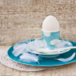 Plates and Egg — Stockfoto