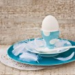 Plates and Egg — Stock fotografie