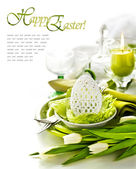 Place Setting for Easter — Stockfoto
