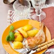 Chicken with Potato  — Stock Photo