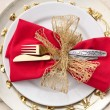 Stockfoto: Christmas Place Setting with Bells