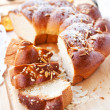 Foto Stock: Sweet braided bread
