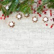 Christmas decoration with cookies — Stock Photo