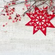 Christmas decoration with branches — Stock fotografie