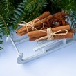 Stock Photo: Cinnamon sticks and stars anise