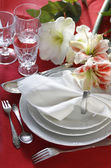 Festive table setting — Stok fotoğraf