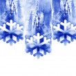 Watercolor background -Winter- — Stock Photo
