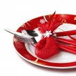 Christmas table setting — Stock Photo #34965095