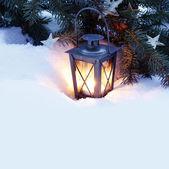 Burning lantern — Stock Photo