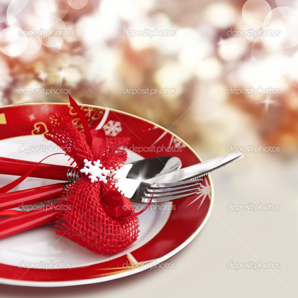 Christmas Table Setting Stock Photo M Grau 34965093