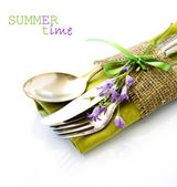 Cutlery set -Summer time- — Stock Photo