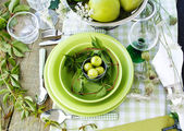 Summer table setting — Stockfoto