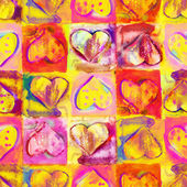 Heart Seamless Pattern — Stock Photo