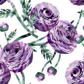 Ranunculus Seamless Pattern — Stock Photo