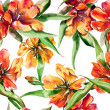 Stock Photo: Tulips Seamless Pattern