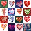 Foto de Stock  : Hearts Set