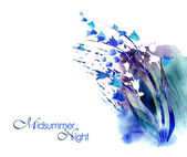 Watercolor -Midsummer-night- — Stock Photo