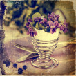 Viola Flowers in Retro Look — Stock Photo