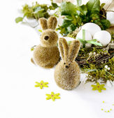 Two easter rabbits — Stock Photo