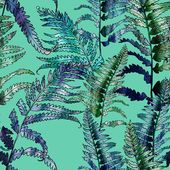 Fern Seamless Pattern — Stock Photo