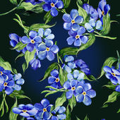 Forget-me-not Flowers Pattern — 图库照片
