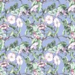 Field Bindweed Seamless Pattern — Stock Photo