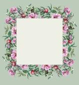 Rosehips Frame — Stock Photo