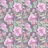 Rosehips Seamless Pattern — Stock Photo