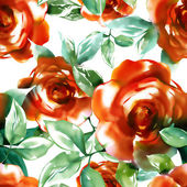 Red Roses Seamless Pattern — Стоковое фото