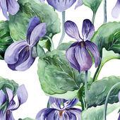 Viola Seamless Pattern — Stock Photo