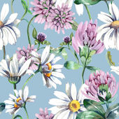 Summer Flowers Seamless Pattern — Stock Photo
