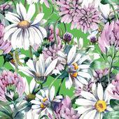 Summer Flowers Seamless Pattern — Stock Photo