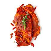 Ruwe gemarineerd vlees — Stockfoto
