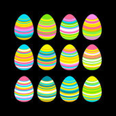 Colorful Easter eggs texture patterns set — Stock Vector