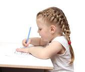 Drawing girl — Stock Photo