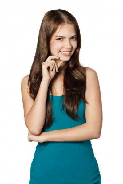 Young smiling girl — Stock Photo #34314751