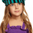 Close up portrait of girl headdress — Stock Photo