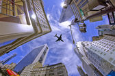 Sky and Buldings in New York City — Foto de Stock