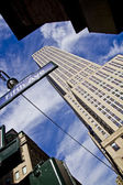 Empire State Building with Fifth Avenue New York City — Stock Photo
