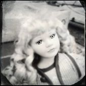 Horror Dolly Retro Photo — Foto de Stock