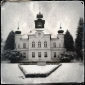 History Castle in retro photo — Zdjęcie stockowe