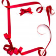 Frame made of ribbon — Stock Photo