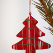 Red toy on the tree — Stock Photo