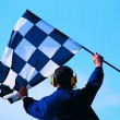 Formula 1 flag — Stock Photo