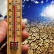 Temperature of the earth — Stock Photo